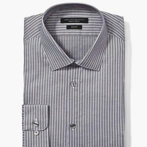 John Varvatos Slim Fit Striped Dress Shirt Sz 15.5